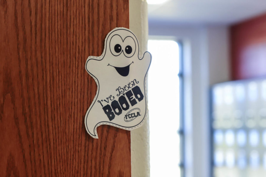 These little white ghosts can be found outside many rooms in the hallways.