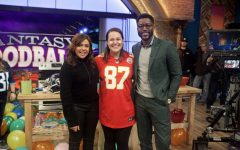 Never missing an episode of Rachael's 30 minute recipes to gain dinner ideas, Ms. Bollwerk was able to fly to New York with her husband and undergo the full experience. Here, Ms. Bollwerk poses with Rachael Ray and NFL analyst Nate Burleson.