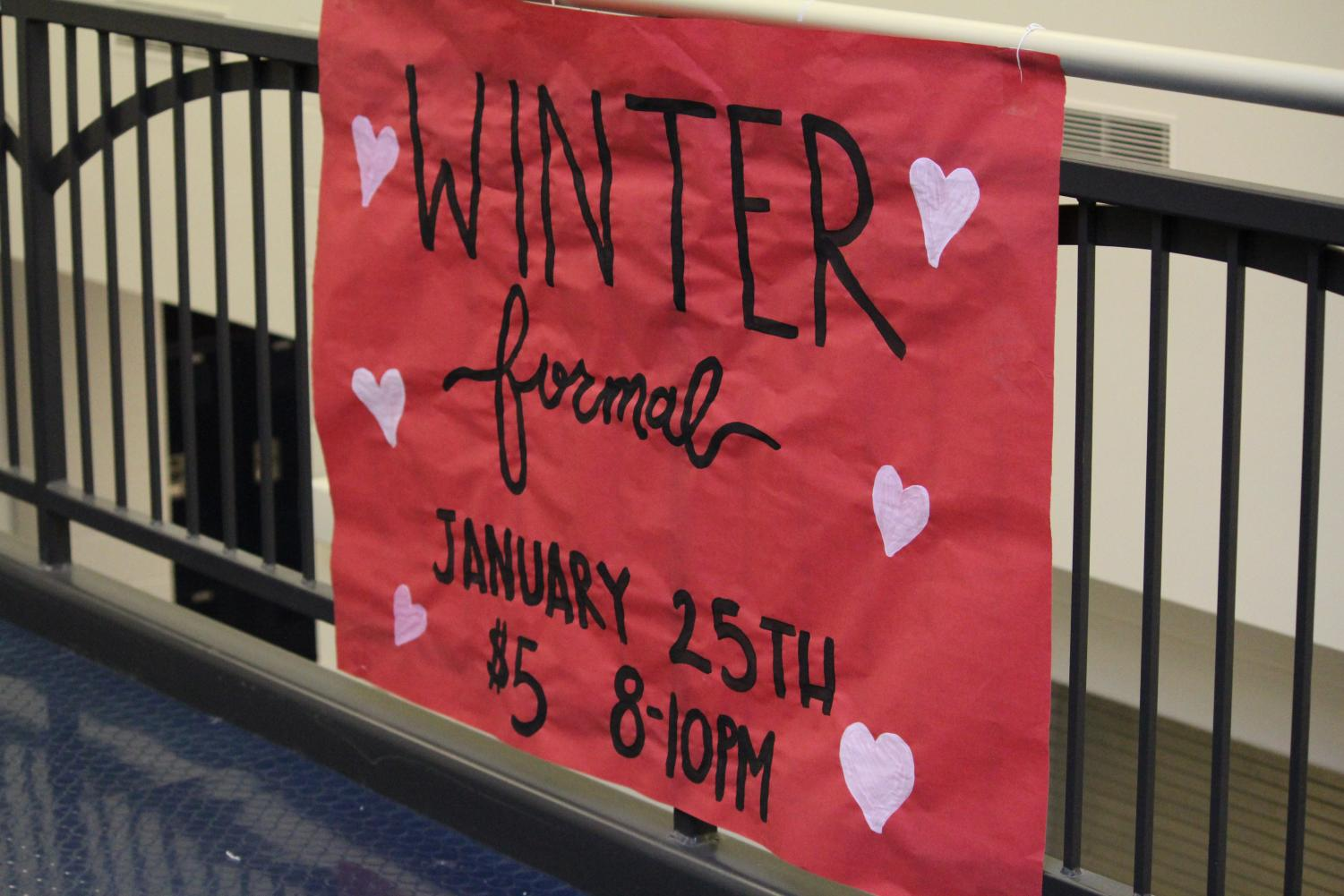 Winter Formal is rescheduled for sometime in early February.