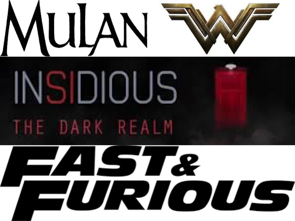 These logos show some great sequels coming out in 2020. Included are: The Live-Action remake of