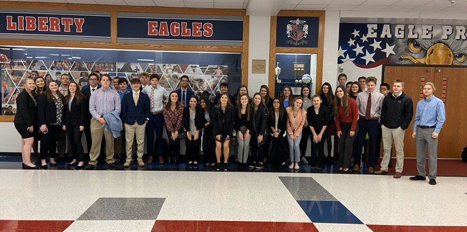 DECA students competed at districts Feb. 13 at South County Mall.