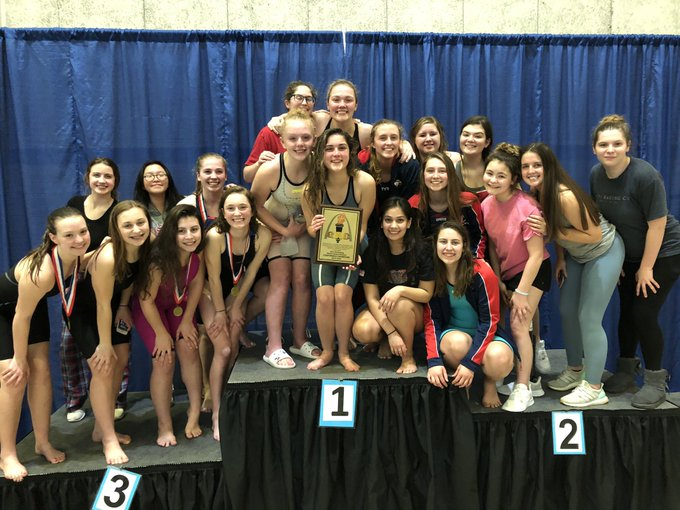 The+girls+swim+and+dive+team+recently+won+their+fifth+consecutive+GAC+championship+at+the+Rec-Plex.+