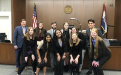 The mock trial team  competed in two rounds at the St. Louis County Courthouse against Jefferson City and Lutheran South.