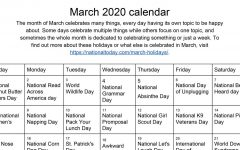 A compilation of all of the fun National Celebrations in March.