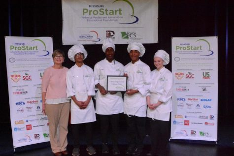 Ms. Pizzo joins Neil Sinclair, Jade Moore, Randall Dennis and Abby Johnson at the ProStart competition in Springfield.