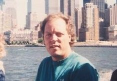 My uncle Mike being photographed by my dad in front of the twin towers sometime in the 90s