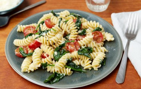 Dinner – Fusilli with Spinach and Asiago Cheese