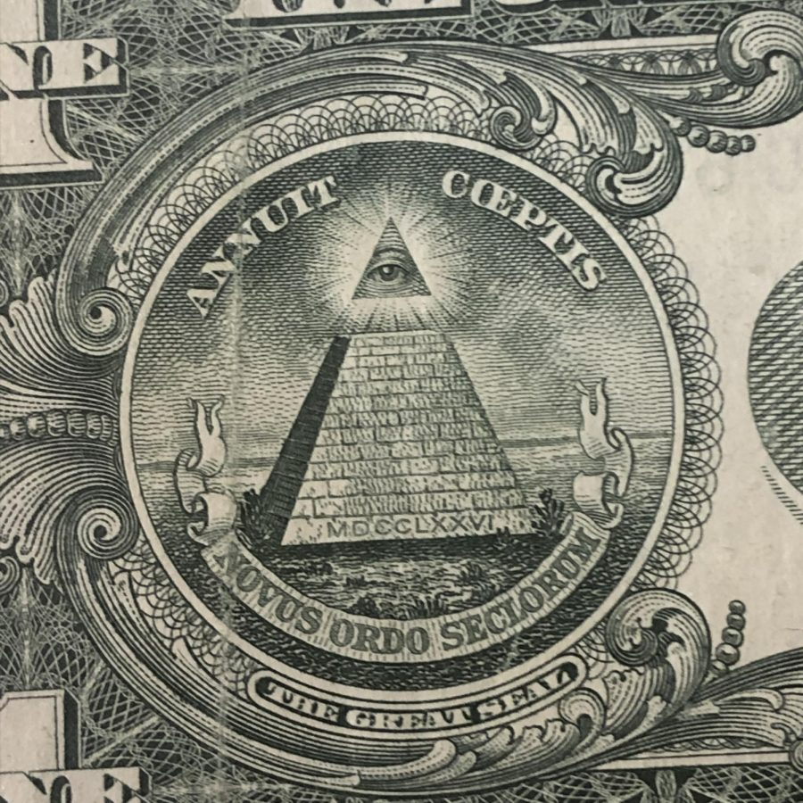 Theorists claim this seal is related to the Illuminati, a secret organization started in  1776.