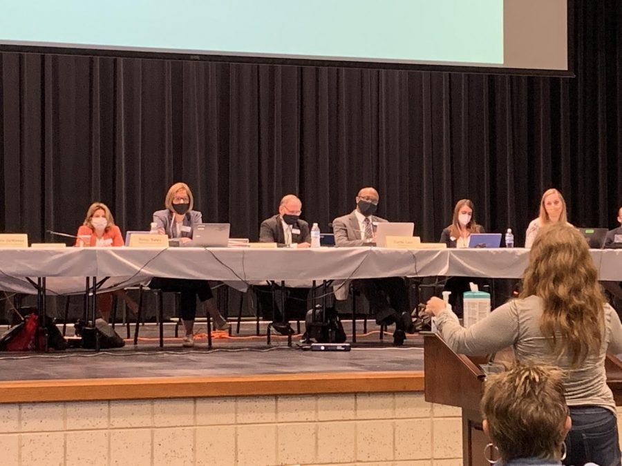 Speakers present to the Board of Education on Sep. 17.