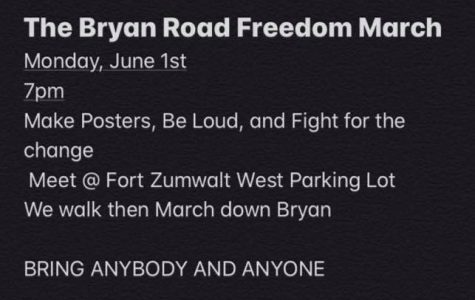 Information for the Bryan Road protest circulated around social media.