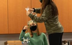 Students conduct a titration lab in Mrs. Beierman's AP Chemistry class.