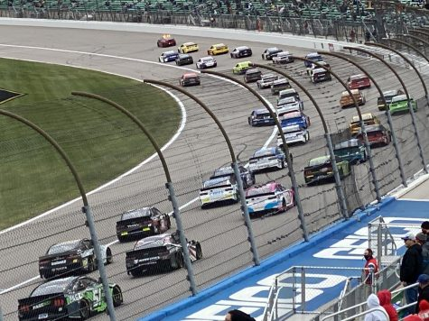 The field preparing to go green at Kansas Speedway on October 18, 2020