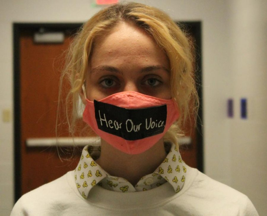 Anna Wright is a sophomore at LHS who participated in the silent protest on Oct. 23.