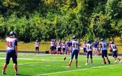 The Jr. Liberty Eagles play a game against the Jr. Troy Trojans earlier this fall.