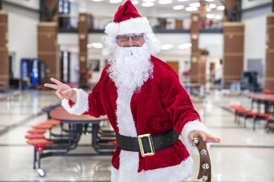 Principal Nelson dressed up as Santa Claus for the Thanksgiving Parade on Nov. 24.