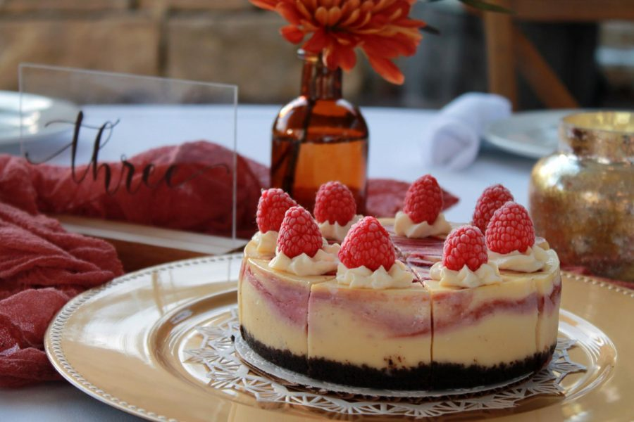 Vic%27s+White+Chocolate+Raspberry+Cheesecake+at+Mr.+and+Mrs.+Gibbs%27+wedding.