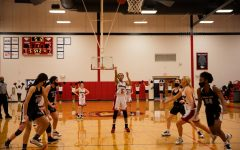 Senior Toni Patterson makes a free throw in the first quarter in a game against Rosati-Kain. Through the first eight games, Patterson led the team in steals (26) and blocks (8) and was second on the team in scoring with 9.3 points per game.