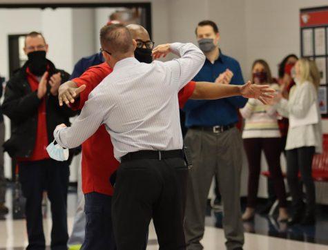 Mr. Nelson celebrates Mr. Morris