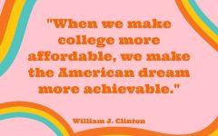 Former President Bill Clinton, on college