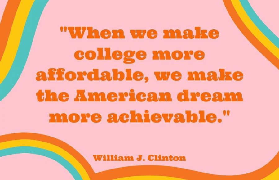 Former President Bill Clinton, on college