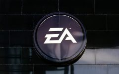 The logo of the game software company Electronic Arts.