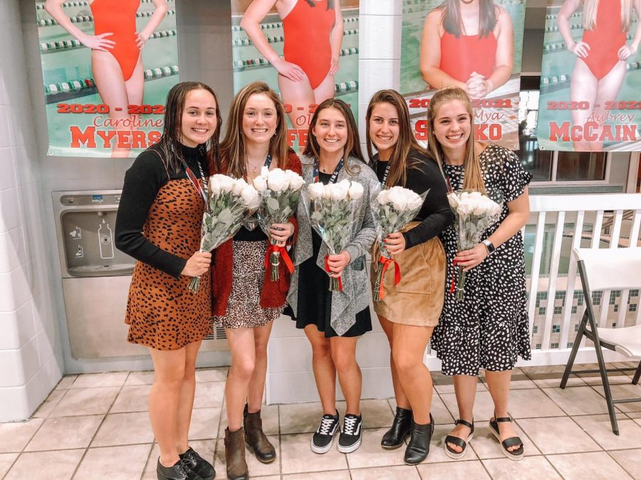 Pictured Left to Right: Anna Decker, Caroline Myers, Olivia Guffey, Mya Suftko, and Aubrey McCain