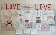 Activism Club expresses love with the February Board located next to the cafe in the cafeteria.