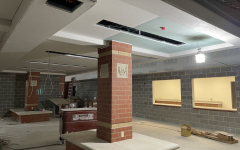 The North Point common area, located beneath the main stairwell.