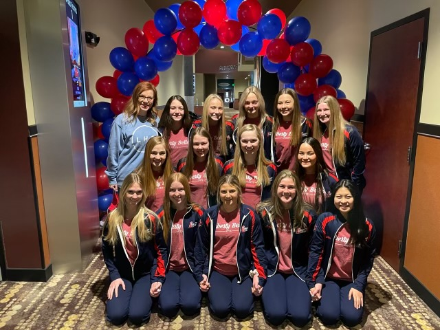 The varsity dance team had a private screening of the livestream at B&B Theatres.