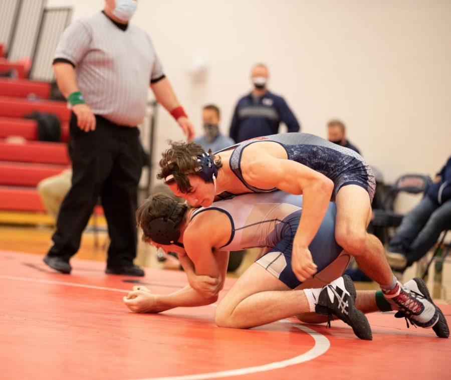Wyatt Haynes is a couple of seconds away from cradling Holt at our home duel.