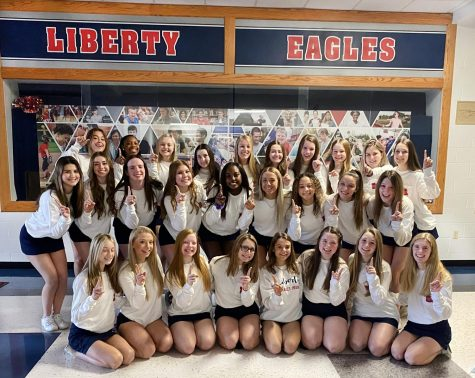 This year marks the first time in school history that the cheer team has earned the state title, though they have placed in the top five for the past four years.