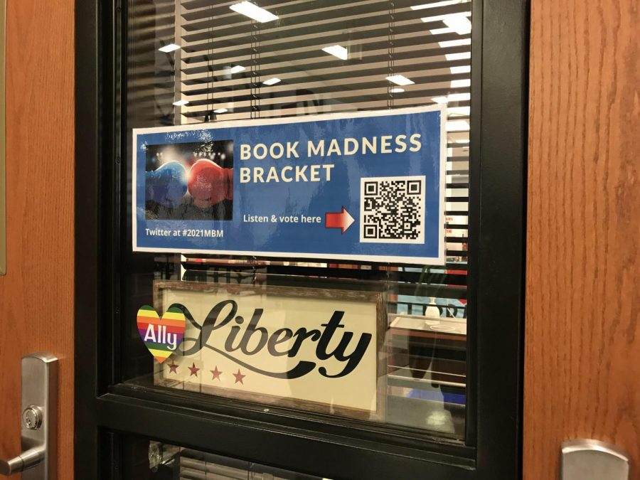 Students can view the March Madness bracket by scanning the QR code outside of the Library.