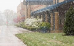 An unexpected snowfall hit the area on April 20.