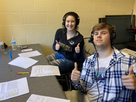 Tyler Metheney and Ally Schniepp broadcast a game