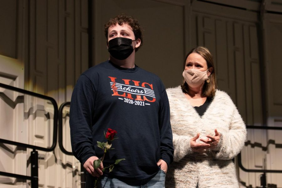 Cole Allen (12) listens as Ms. Kennedy says farewell to him.
