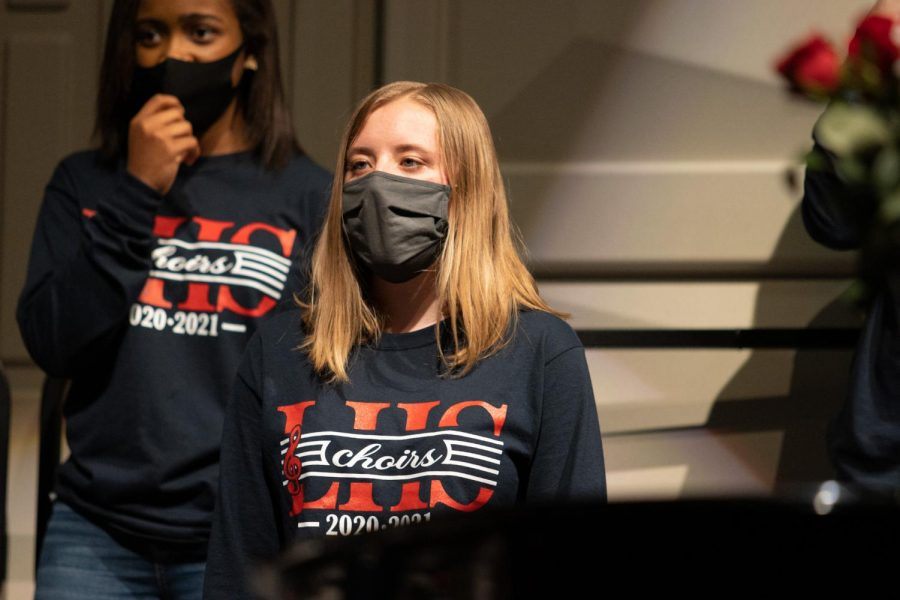 Aiyana Walker (9) sings in the Concert choir.