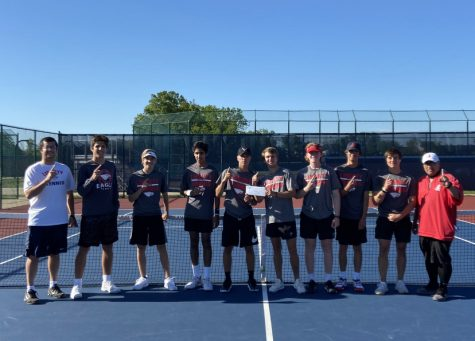 Varsity boys tennis took first place in the Class 4 District 2 GACs.