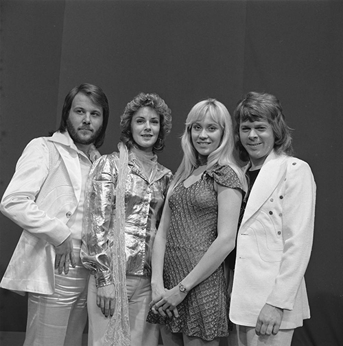 The faces of ABBA: (left to right) Benny Andersson, Anni-Frid Lyngstad, Agnetha Faltskog, Bjorn Ulvaeus