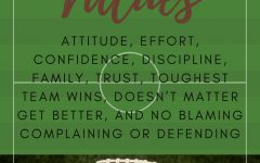 The football program has nine core values.