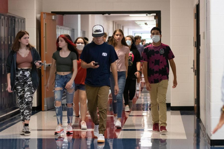 Why do we not have masks on in the hallways, but yet its enforced so heavily on the bus?