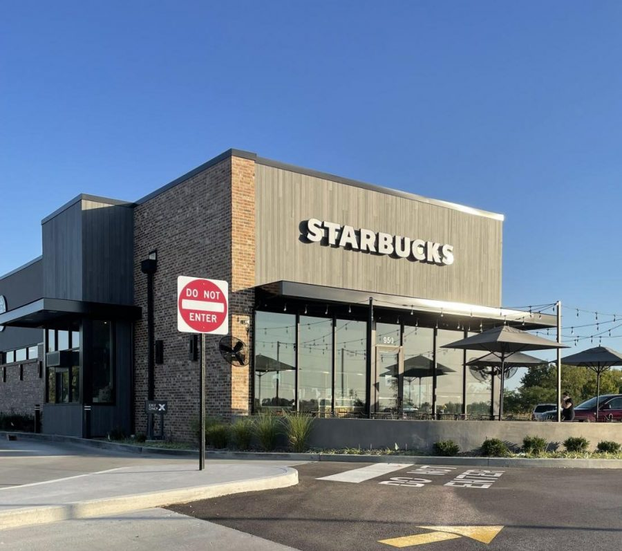 Starbucks opened a new location at 950 Bryan Road in O'Fallon. Shaped like a rectangle, it easily catches onlookers eyes.