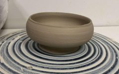 This is a bowl created by Jones in her ceramics class