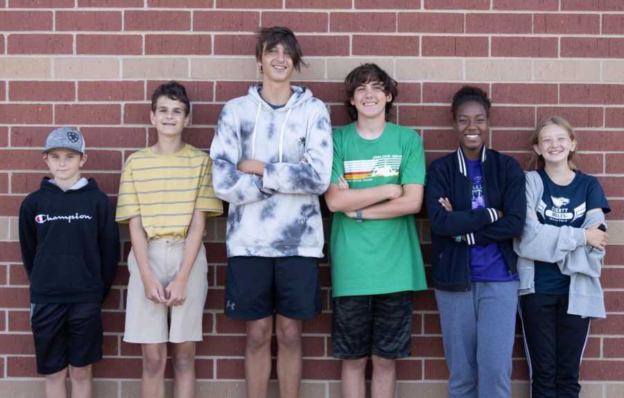 Riley Box, Zachary Waltz, Nolan Schlattman, Ethan Hagner, Leilani Green, and Payton Grotewiel participate in both the band and cross country programs.