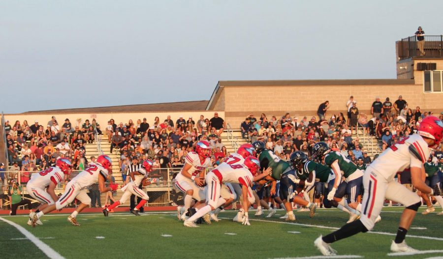 Noah Kuehner had a total of 149 yards against the Knights on Fridays game.
