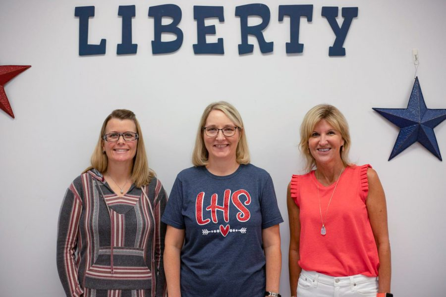 Ms. Wiggs, Ms. Berghoff and Ms. Church (left to right) are the new faces of Liberty front office staff.