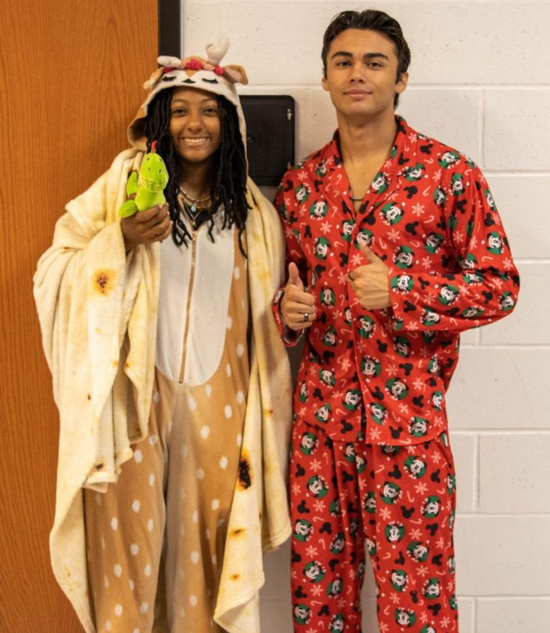 Jadyn Smith and Andre Gilardi all dressed in PJs for Thursday.