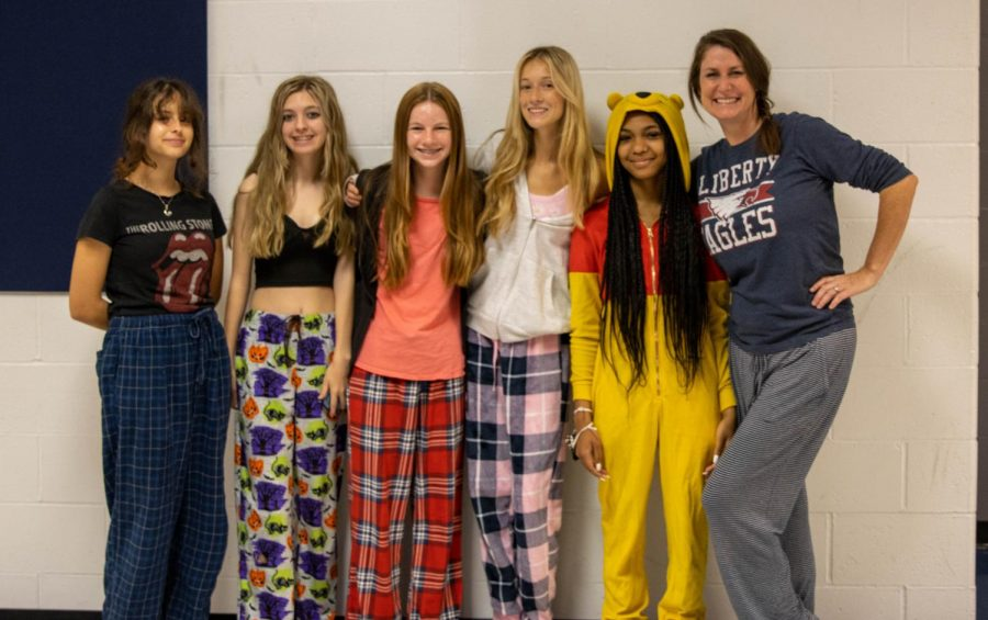 PJ day for students in honor of Libertys Homecoming.